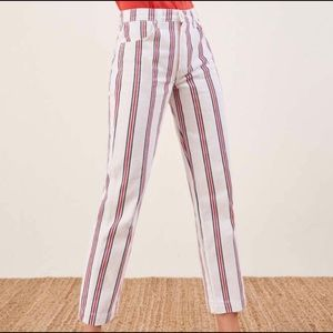 Reformation Striped Roper Jeans